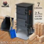 koza Grillpal 328 - 7 cegiel EXTRA GRUBY